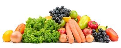 Vastgestelde fruit en groenten Royalty-vrije Stock Foto's