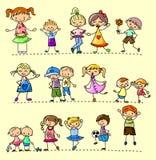 Vastgestelde gelukkige kinderen Royalty-vrije Stock Foto's