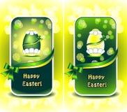 Vastgestelde Gelukkige Pasen in groene kleur Royalty-vrije Stock Foto