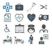 Vastgestelde geneeskundepictogrammen Stock Foto