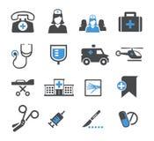 Vastgestelde geneeskundepictogrammen Stock Afbeelding