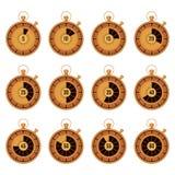 Vastgestelde gouden chronometer Stock Foto