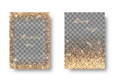 Vastgestelde gouden transparante achtergrond Stock Fotografie