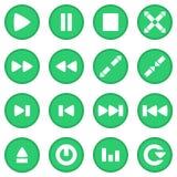 Vastgestelde groen van het videospelerpictogram stock illustratie