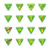 Vastgestelde Groene de driehoekenecologie van het pictogram Royalty-vrije Stock Fotografie