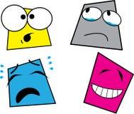 Vastgestelde het glimlachen pictogrammen - 1 Stock Afbeeldingen