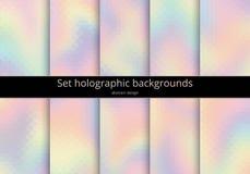 Vastgestelde holografische achtergrond vector illustratie