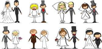 Vastgestelde huwelijksbeelden, vector Stock Afbeeldingen