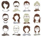 Vastgestelde illustraties -- avatars Royalty-vrije Stock Afbeeldingen