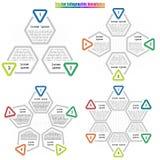 Vastgestelde infographic tempplate stock illustratie