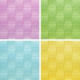 Vastgestelde inzameling kleurrijke Placemat, stock foto's