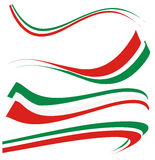 Vastgestelde Italiaanse vlag Royalty-vrije Stock Foto