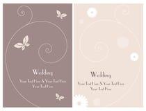 Vastgestelde kaart 3 van de huwelijksuitnodiging Royalty-vrije Stock Foto's