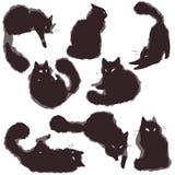 Vastgestelde Katten - vector Royalty-vrije Stock Afbeeldingen