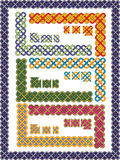 Vastgestelde Keltische patronen voor een frame Royalty-vrije Stock Afbeeldingen