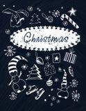 Vastgestelde Kerstmisbeelden Royalty-vrije Stock Foto's