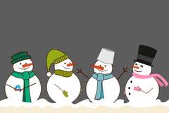 Vastgestelde Kerstmissneeuwman Stock Foto's