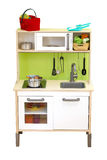 Vastgestelde keuken het stuk speelgoed isoleert over witte achtergrond Royalty-vrije Stock Afbeelding