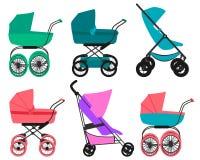 Vastgestelde kinderwagen Stock Afbeeldingen