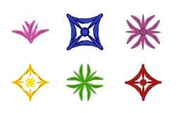 Vastgestelde kleurenemblemen Royalty-vrije Stock Foto's