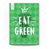 Vastgestelde kleurrijke goede voedselaffiches Royalty-vrije Stock Afbeelding