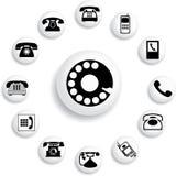 Vastgestelde knopen - 32_B. Telefoons Stock Afbeeldingen