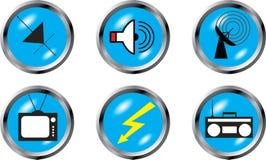 Vastgestelde knopen - Radioapparaten Royalty-vrije Stock Afbeeldingen