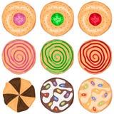 Vastgestelde koekjes Royalty-vrije Stock Afbeelding
