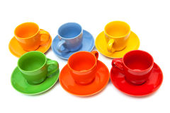Vastgestelde koffiekoppen Royalty-vrije Stock Fotografie