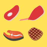 Vastgestelde lapjes vlees stock illustratie