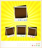Vastgestelde malplaatje oude photoframeworks Stock Foto's