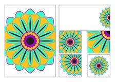 Vastgestelde malplaatjes voor document, enveloppen en prentbriefkaaren Stock Fotografie