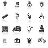 Vastgestelde medisch van het pictogram Royalty-vrije Stock Foto's