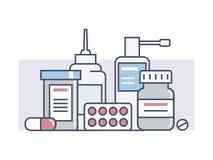 Vastgestelde medische drugs vector illustratie