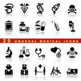 Vastgestelde medische pictogrammen Stock Afbeeldingen
