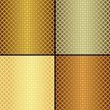 Vastgestelde metaal naadloze patronen Stock Fotografie