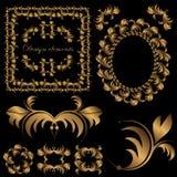 Vastgestelde monogrammen Royalty-vrije Stock Fotografie