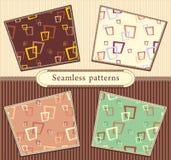 Vastgestelde Naadloze abstracte geometrische patronen Royalty-vrije Stock Foto