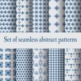 Vastgestelde naadloze abstracte patronen Stock Afbeelding