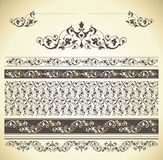 Vastgestelde naadloze grenzen Royalty-vrije Stock Afbeelding