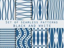 Vastgestelde naadloze patronen Het patroon van de lijnen Het patroon voor behang, tegels, stoffen, achtergronden vector illustratie
