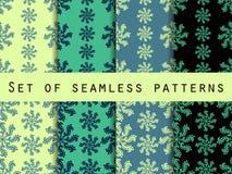 Vastgestelde naadloze patronen Kleurenmunt Het patroon voor behang, bedlinnen, tegels, stoffen, achtergronden Stock Afbeeldingen