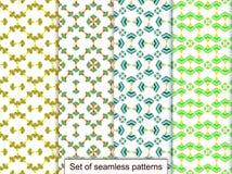 Vastgestelde naadloze patronen van geometrische 3D vormen Voor ontwerp, wallpa Royalty-vrije Stock Afbeeldingen