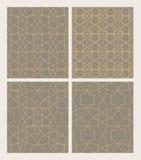 Vastgestelde naadloze patronen van Moslimtracery Vectorpatroon voor desi Stock Foto's