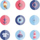 Vastgestelde overzeese pictogrammen Royalty-vrije Stock Foto's
