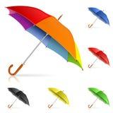 Vastgestelde Paraplu's royalty-vrije illustratie
