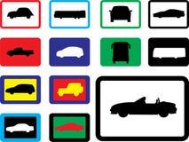 Vastgestelde pictogrammen - 19B. Auto's Royalty-vrije Stock Afbeeldingen