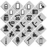 Vastgestelde pictogrammen Royalty-vrije Stock Afbeeldingen