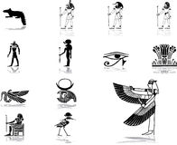 Vastgestelde pictogrammen - 50. Egypte Stock Fotografie