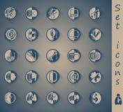 Vastgestelde pictogrammen Royalty-vrije Stock Foto